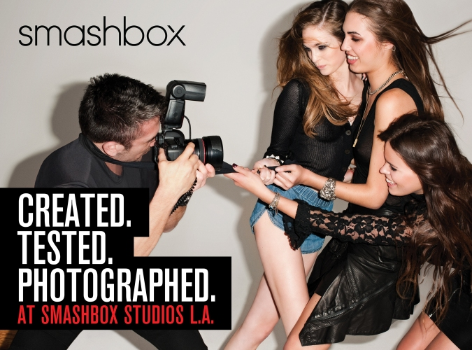Example: smashbox cosmetics was born in a photostudio. The esthetic of a studio set is the driving DNA behind the brand.